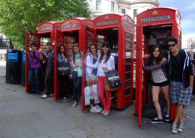 A photo of campers during a London trip