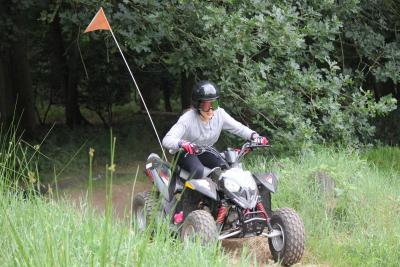 Activites to cater for everyone, especially the boys at XUK Summer Camp. Quad biking fun.