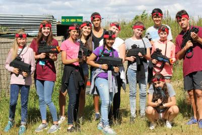 Laser combat trip at XUK Summer Activity Camo