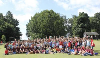 All of the campers and staff at summer camp