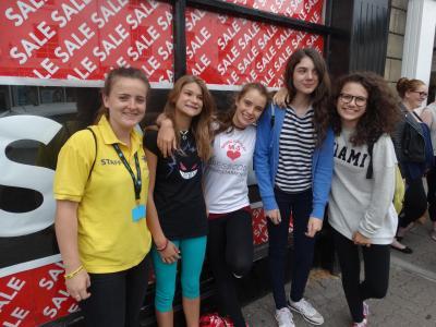 Teenage girls shopping in Monmouth