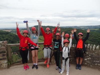 Rock climbing at Symonds Yat