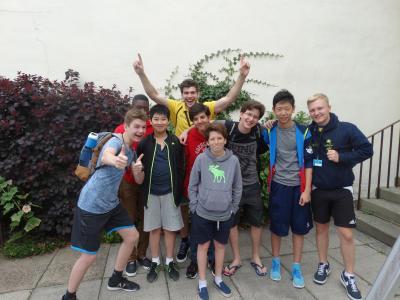 Teenagers at XUK trip having fun