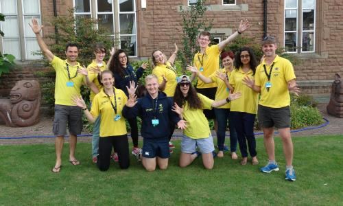 Happy staff at xuk summer sport and arts camp