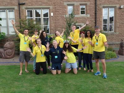 amazing staff team at specialist activity residential camp in uk for children and teenagers