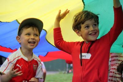 Parachute fun at XUK English Day Camps