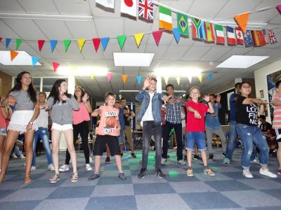 XUK English disco and talent show