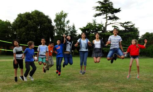 Kids having fun at XUK English summer school