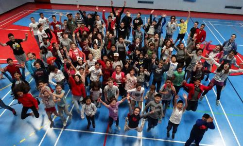 XUK English summer school staff and students