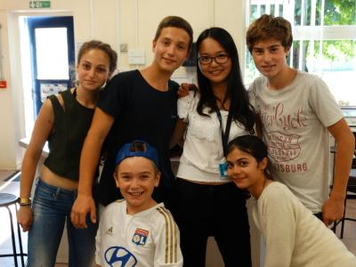 students at xuk english summer school in england during english lesson