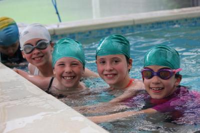 Girls swimming at XUK Day Camp in London