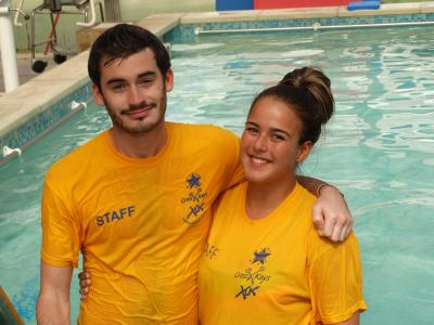 swimming teachers at north london day camp for kids
