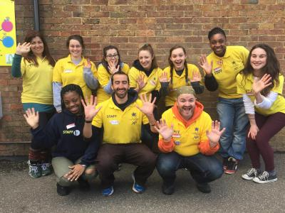 Happy, friendly and fun activity staff at north london multi activity day camp