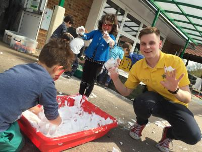 Messy play fun at North London day camp for 3 - 13 year olds