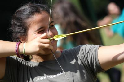 Archery fun at XUK summer camp in UK