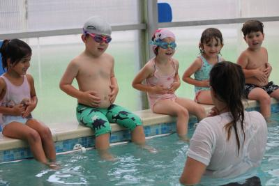 swimming activity at north London summer camp