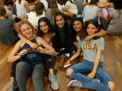 Having fun with friends at xuk summer camp uk