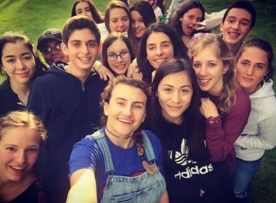 teenagers having fun at uk activity summer camp in england