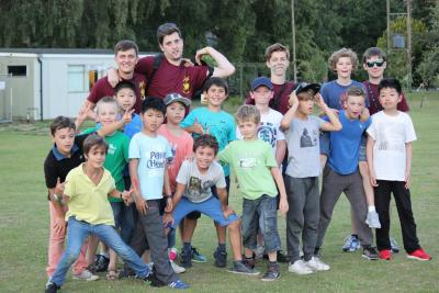 6 - 10 year old boys at residential activity camp in england uk