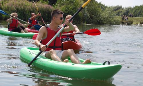 residential camp canoeing