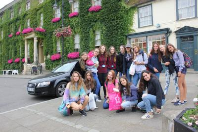 summer camp trip sightseeing with teenage girls