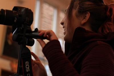 teenage girl at uk photography summer camp in Britain