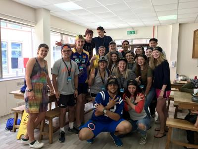 staff team at uk english speaking summer camp for kids and teenagers