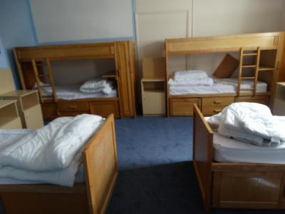 Dormitory that kids and teenagers sleep in at UK summer residential camp