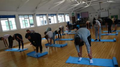 yoga one of our best activities at english summer school
