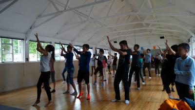 teenager dance activity at best summer school in england