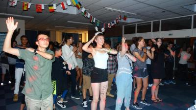 students at summer school disco in london