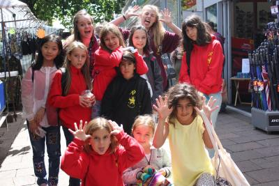 junior campers at uk english speaking summer camp london