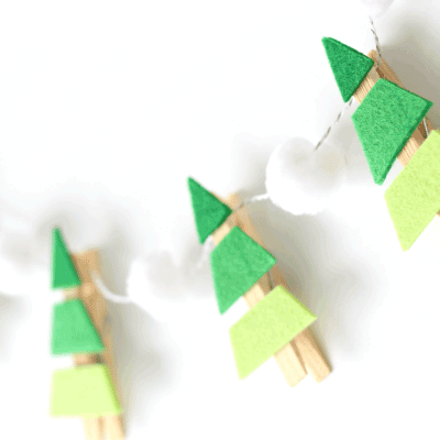 handmade christmas garland for summer campers in uk