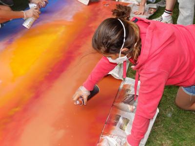 spray painting summer camp activity uk best kids camp