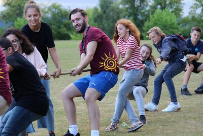 tug of war fun teenagers XUK Activity Camp Summer holidays