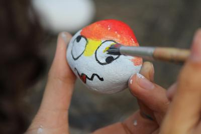 rock painting arts and crafts activity top summer camp uk