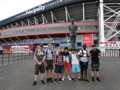 boys on summer camp trip to capital of wales cardiff
