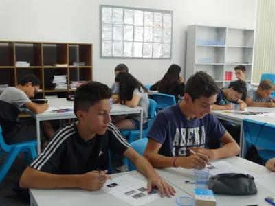 Students at XUK English summer residential Camp