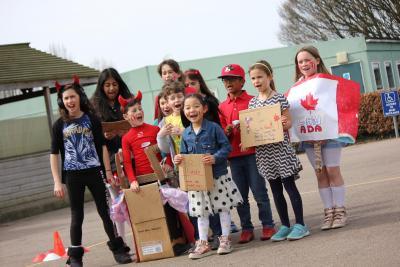 children having fun outside at XUK Day Camp in London