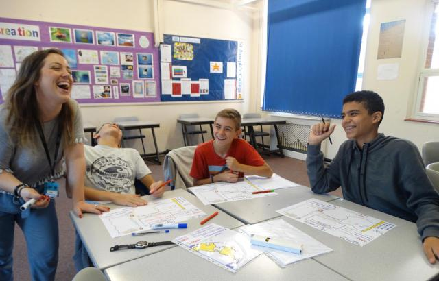 Children and teens learning English at xuk summer school