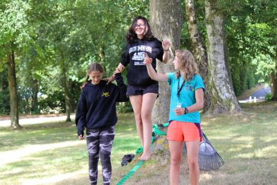 teenage girls zip line british international summer camps