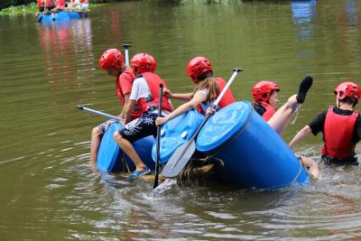 summer camp uk team building raft