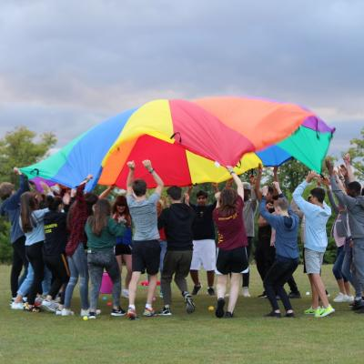 summer camp uk parachute games teenagers