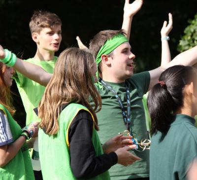 summer camp atmosphere at british summer camp england