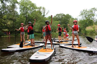 paddle boarding english summer camp uk