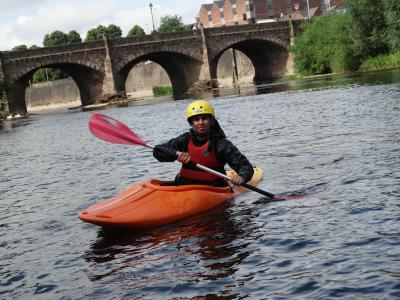 Kayaking at Summer XUK Activity on River Wye