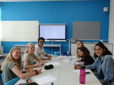 happy students english summer school uk